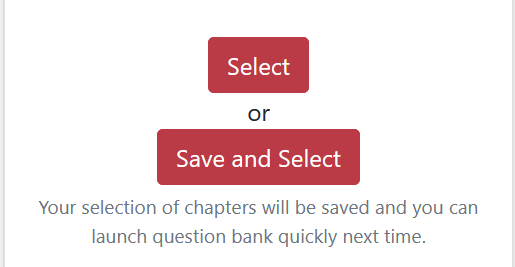 Save and Select button